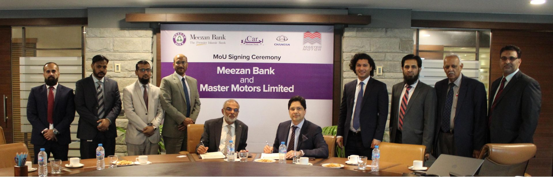 Meezan Bank and Master Motors sign a MoU for Promoting