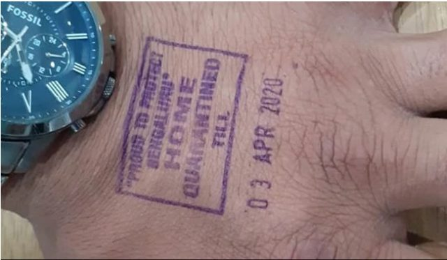 Virus stamp in India